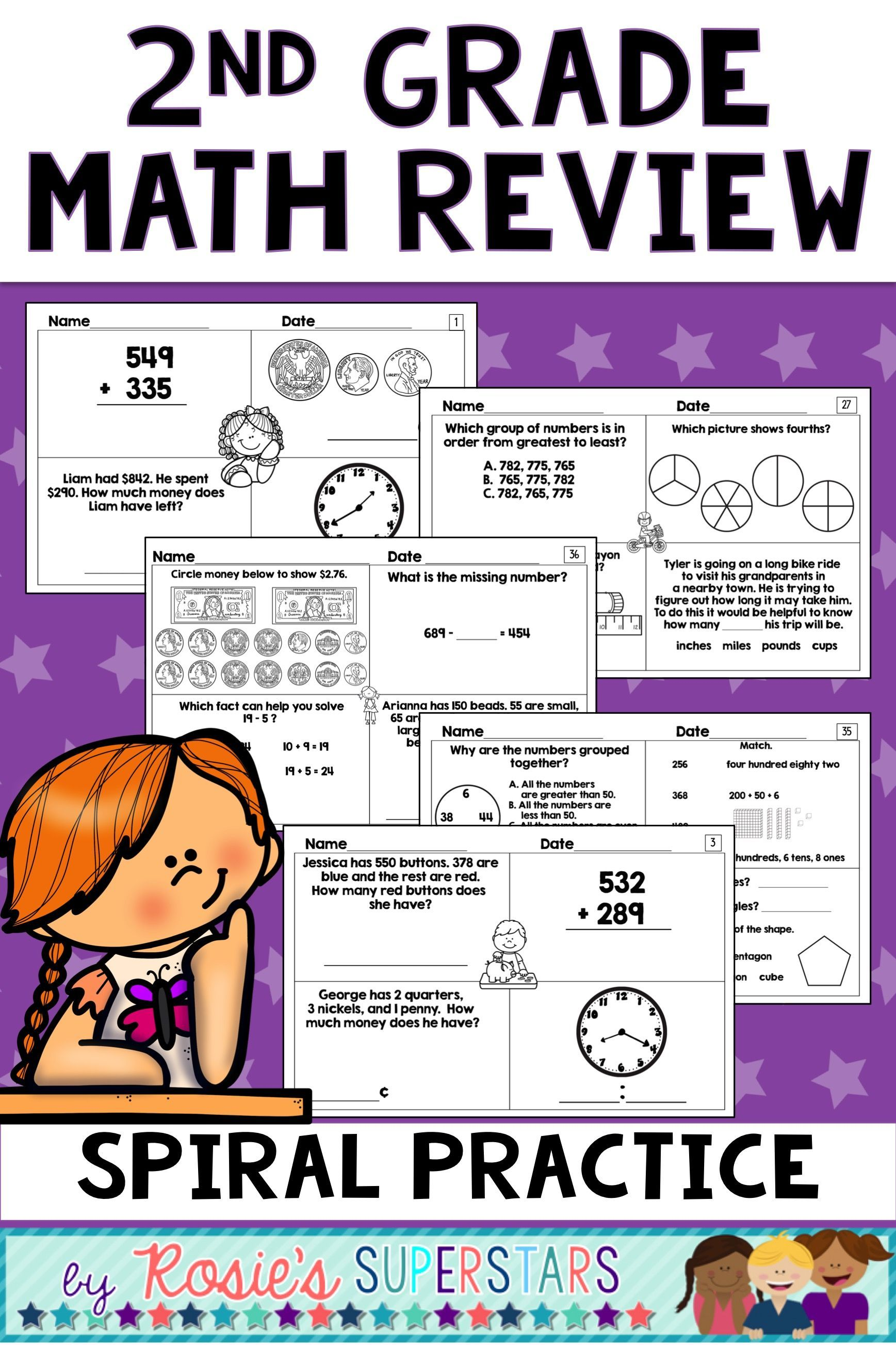 2nd Grade Math Review Morning Or Bell Work