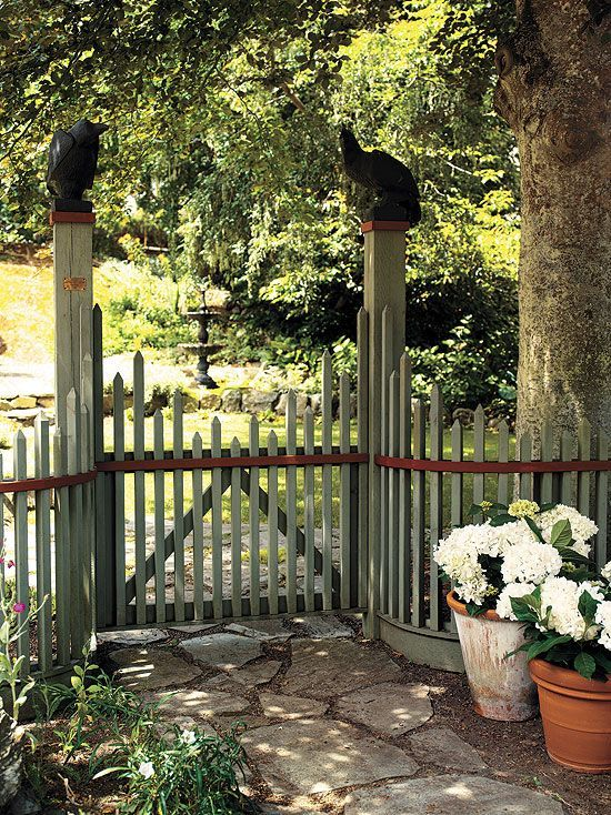 What A Way To Garden?: Lovely Fence And Gate