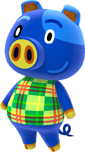 Hugh Is A Lazy Pig Villager In The Animal Crossing Series He Has Appeared In Every Game To Date Hugh S Na Animal Crossing New Leaf Animal Crossing Villagers