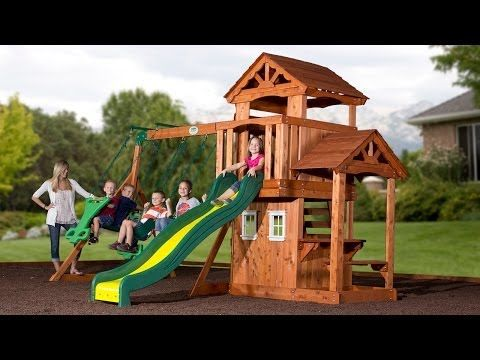 Tanglewood Wooden Swing Set - Playsets | Backyard Discovery - Tanglewood Wooden Swing Set - Playsets Backyard Discovery