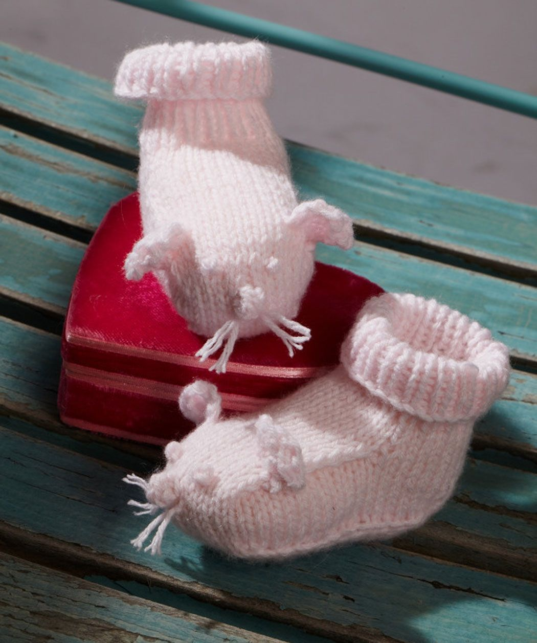 Baby Mice Shoes #knitting #RedHeart #Baby | Knitting | Pinterest ...