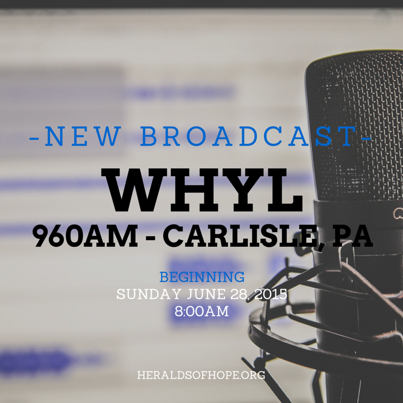 WHYL 960AM Airs The Voice Of Hope Each Sunday Morning A 800am