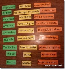 Persnickety image for sentence building games printable