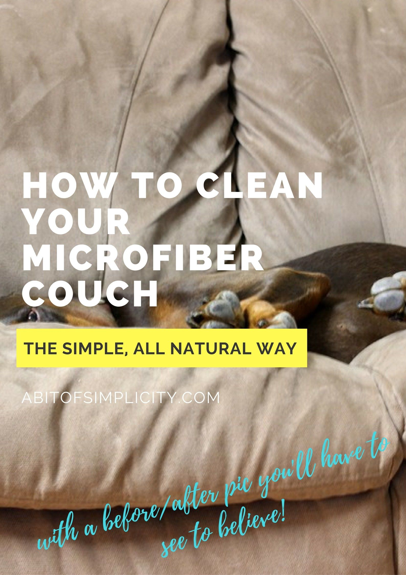 How To Clean Your Microfiber Couch DIY Couch Cleaner Homemade Sofa