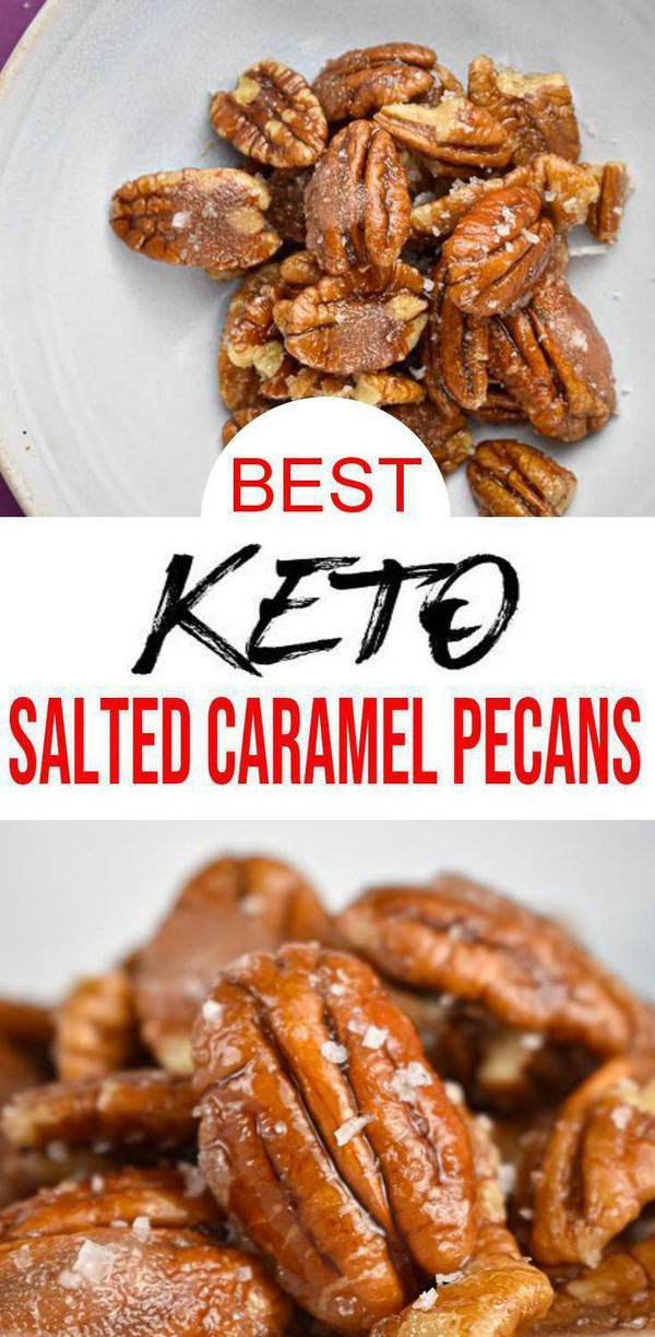 {Keto Pecans} Easy simple ingredient Candied Salted Caramel Pecans you will want to check out! Quick & simple ingredient ketogenic diet caramel pecans that make for a easy keto treat, keto snack or keto dessert. Sweet & savory low carb oven baked not stove top. Sugar free & gluten free keto caramel candy pecans. Switch out keto fat bombs for these pecans that are easy & delicious. Keto diet for beginners or advanced. Learn how to make keto pecans w/ this quick caramel recipe. #toffee #easyrecipe