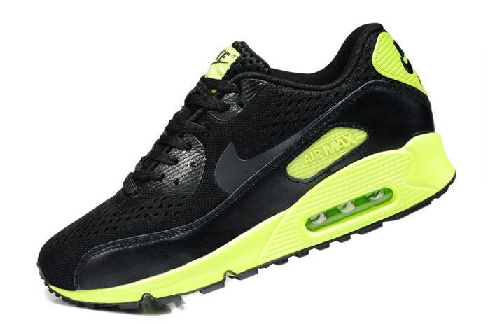 Comfort Nike Air Max 90 Premium EM 2014 Sport Shoes for Women Black Green  Online Sale