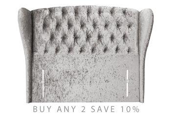 the best attitude eb373 e7667 Glitz Pewter Sherlock Upholstered Headboard | Grown-up Room ...