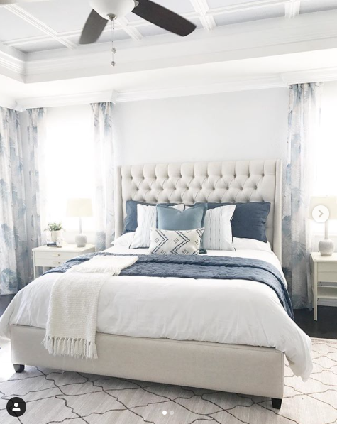 Relaxing Traditional Master Bedroom (With images)   Blue ...