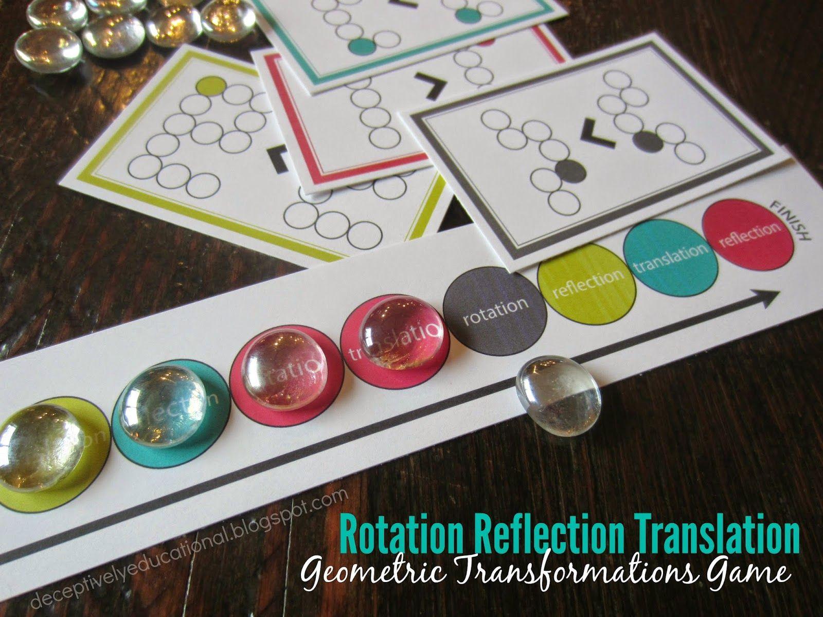 Rotation Reflection Translation Game Free Printable