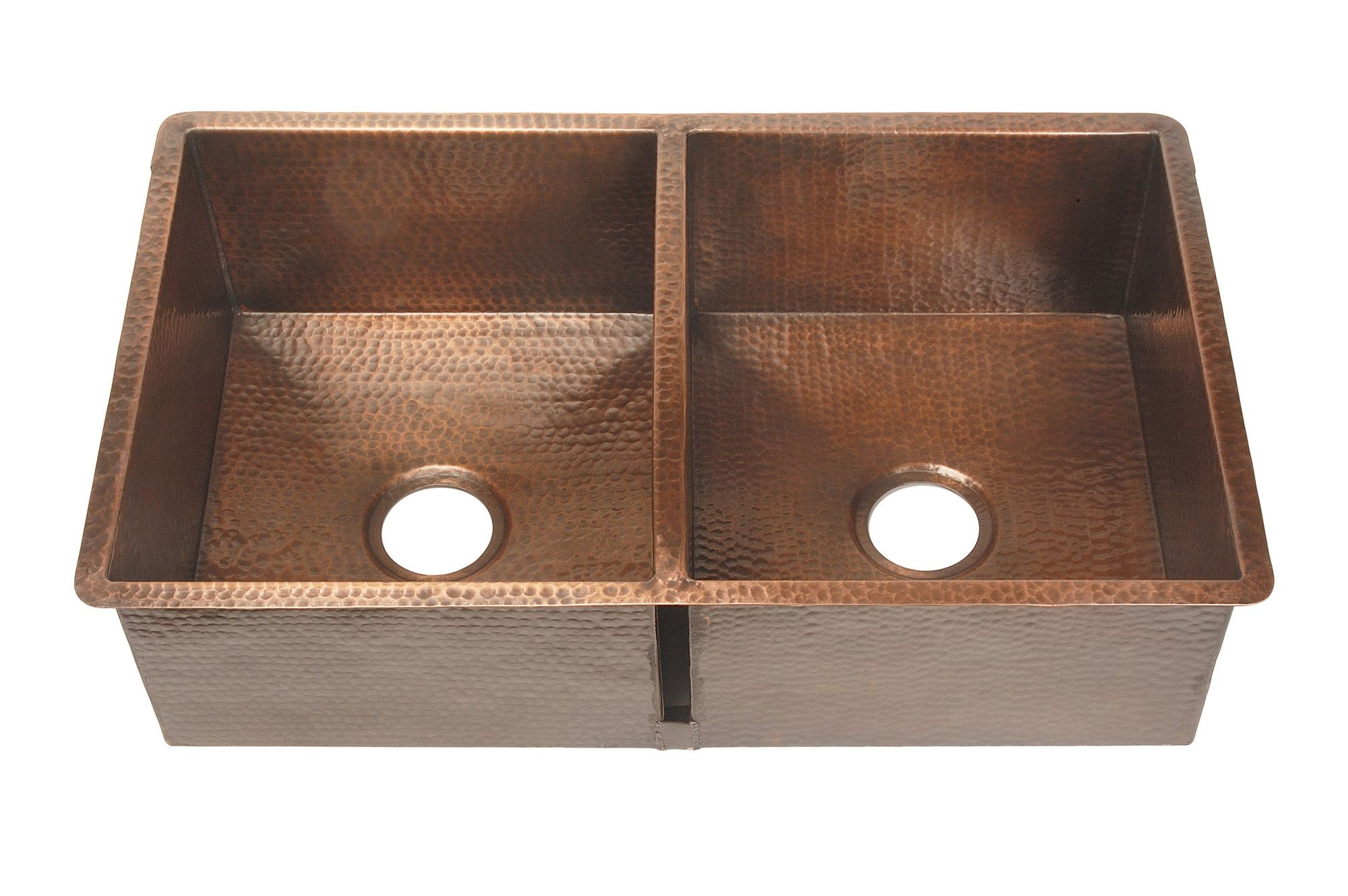 Beautiful Copper Double Sink 32 X 20 Double Bowl Kitchen Sink