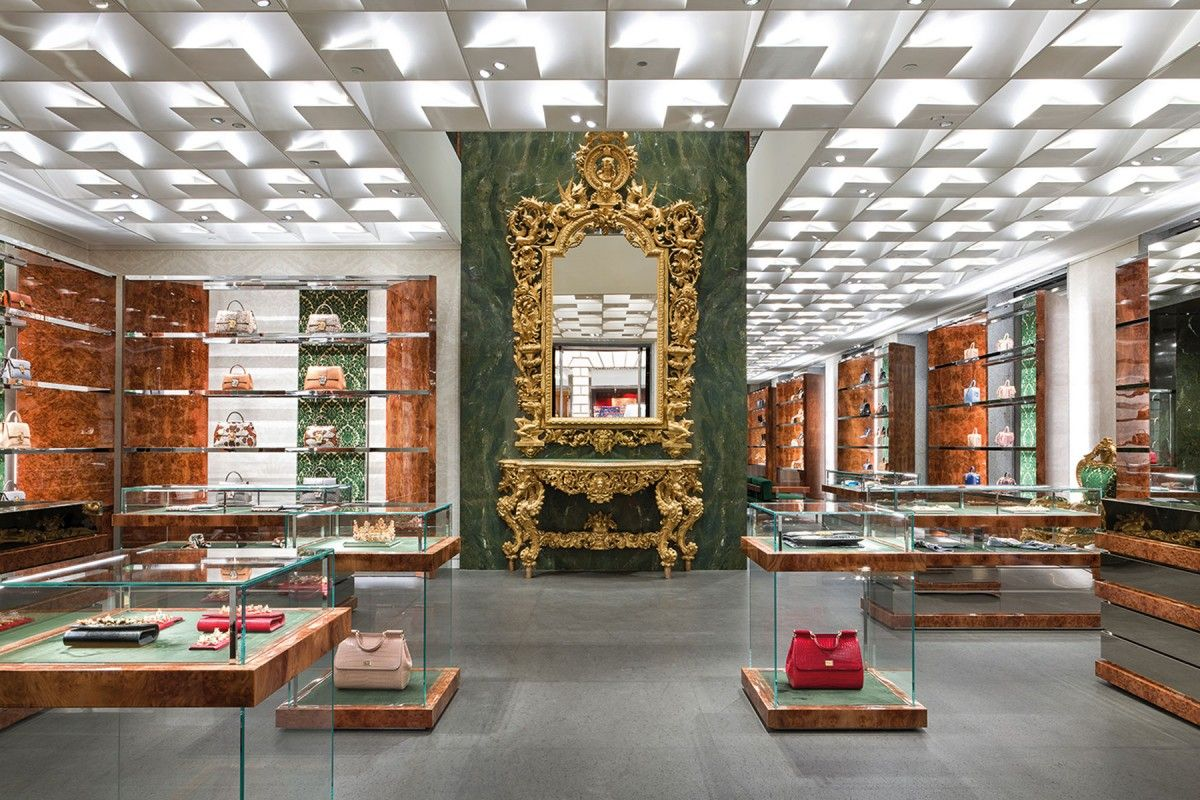 dfffb44b7c14 Renovation at Dolce & Gabbana Boutique Store in Milan | Design Store ...