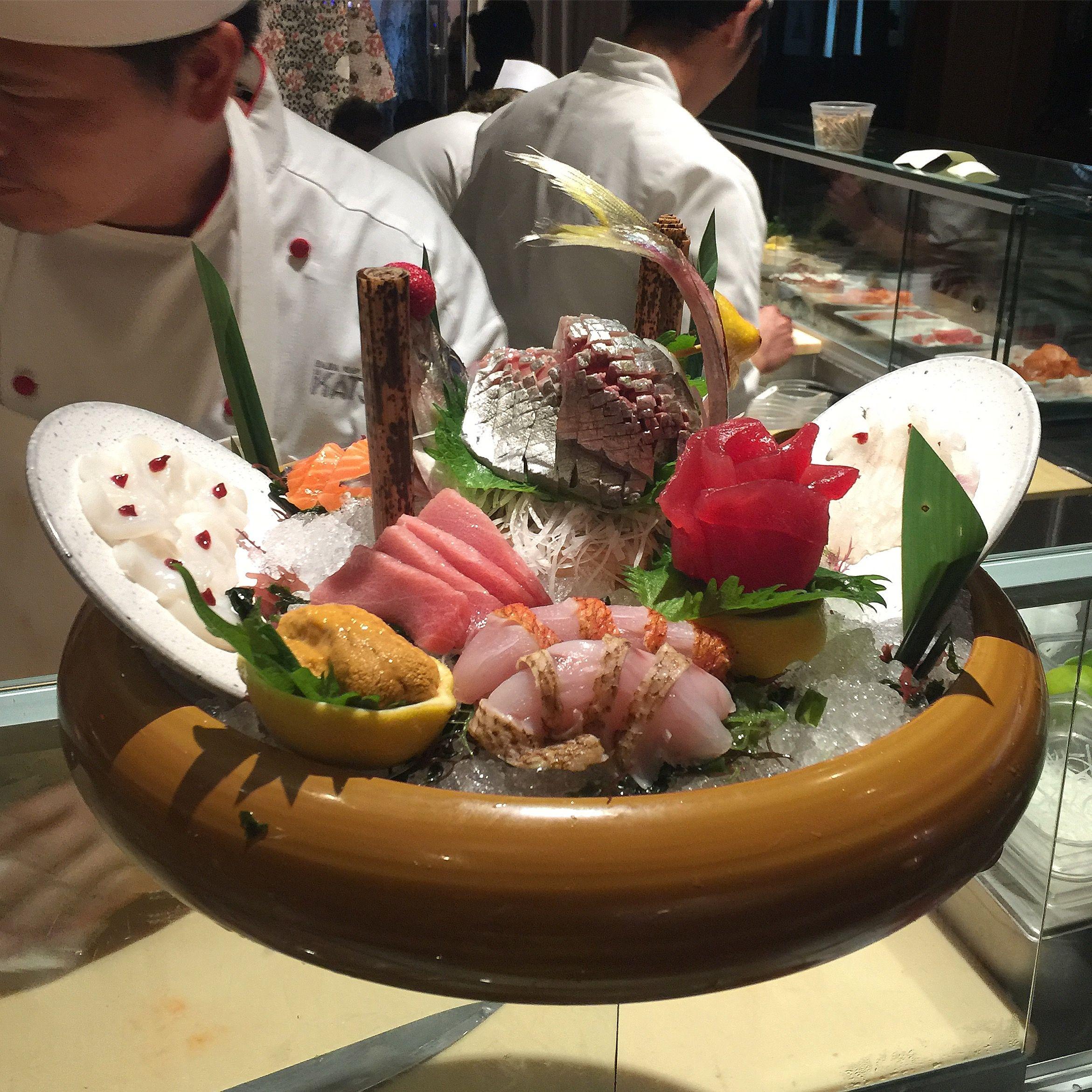 Seafood Sushi Platter At Katsuya Baha Mar