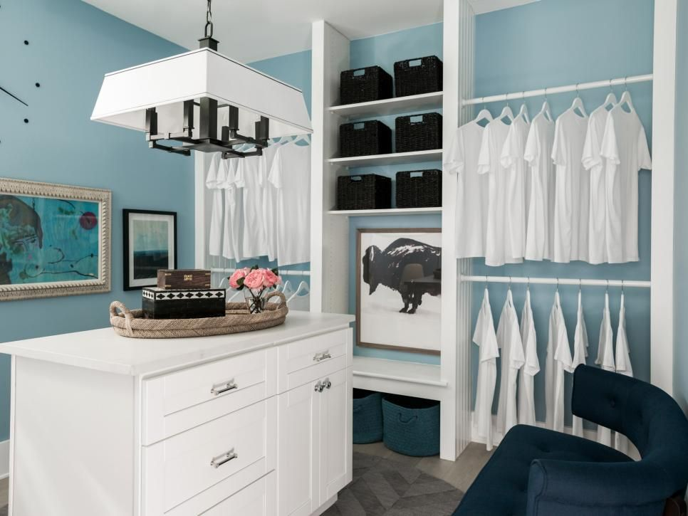 Dream Home 2017 Master Closet Pictures Room Pictures Hgtv And Light Blue Walls