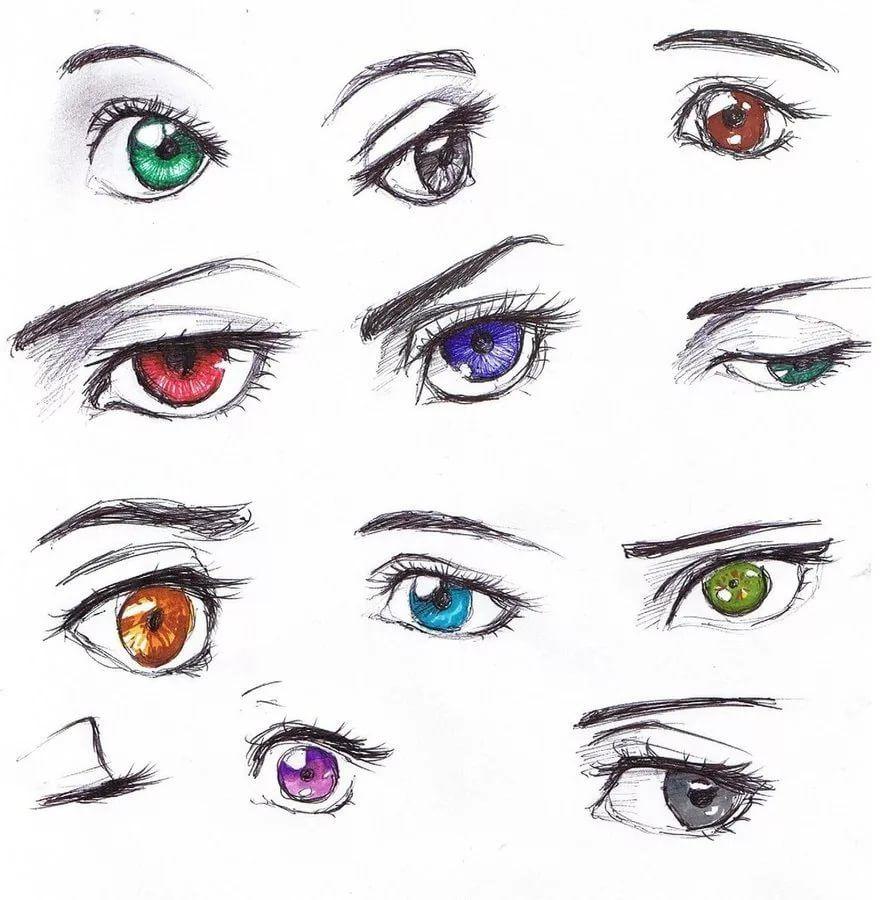 Картинки как нарисовать глаза