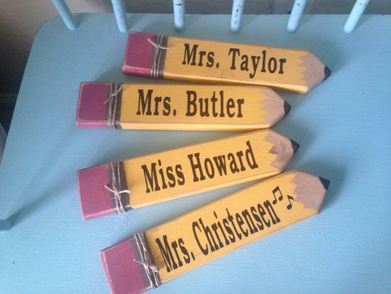 Teachers Personalized Pencil Sign End Of Year By 7thstreetsigns