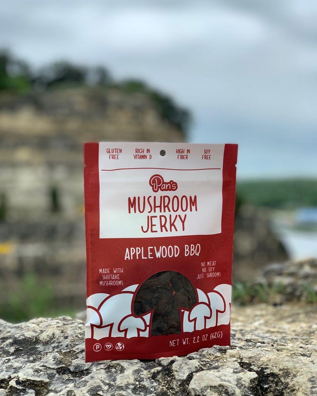 Applewood Mushroom Jerky by Pan's Stuffed mushrooms