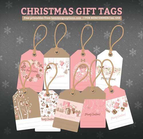 Free printable christmas gift tags christmas pinterest 2 sets of free christmas gift tags in pink and blue negle Gallery