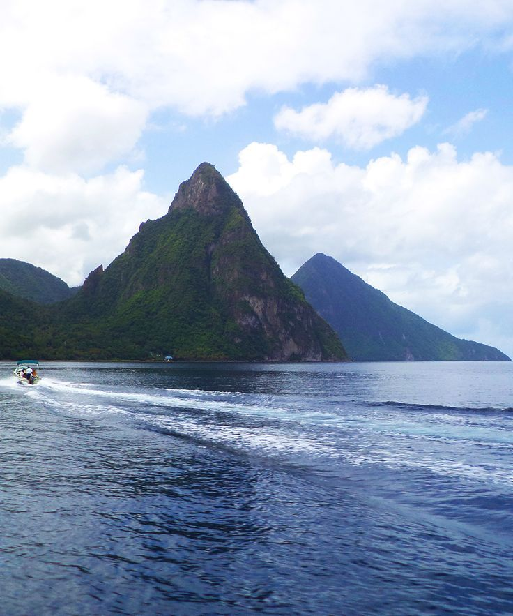 St. Lucia's Most Famous Landmark, The Pitons, Are Twin