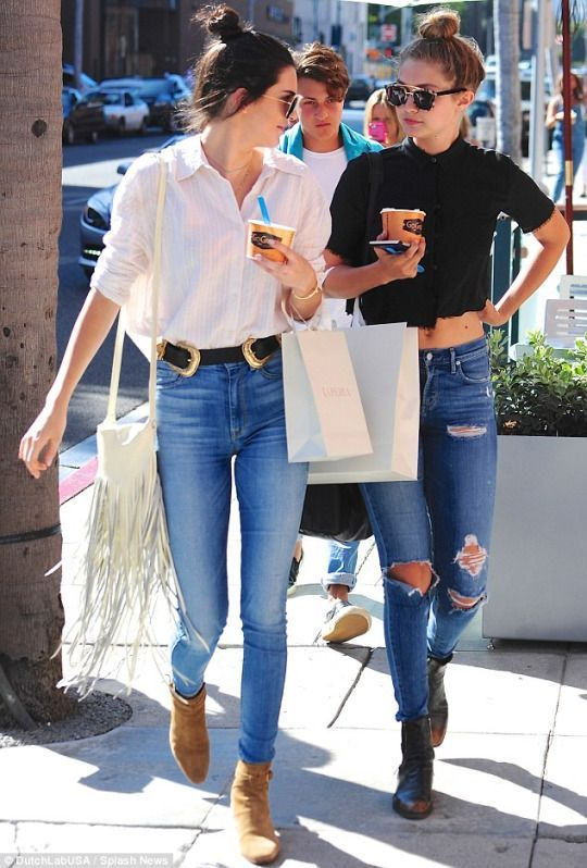 Kendall Jenner & Gigi Hadid  Street Fashion & More Details That Make the Difference at Luxury & Vintage Madrid