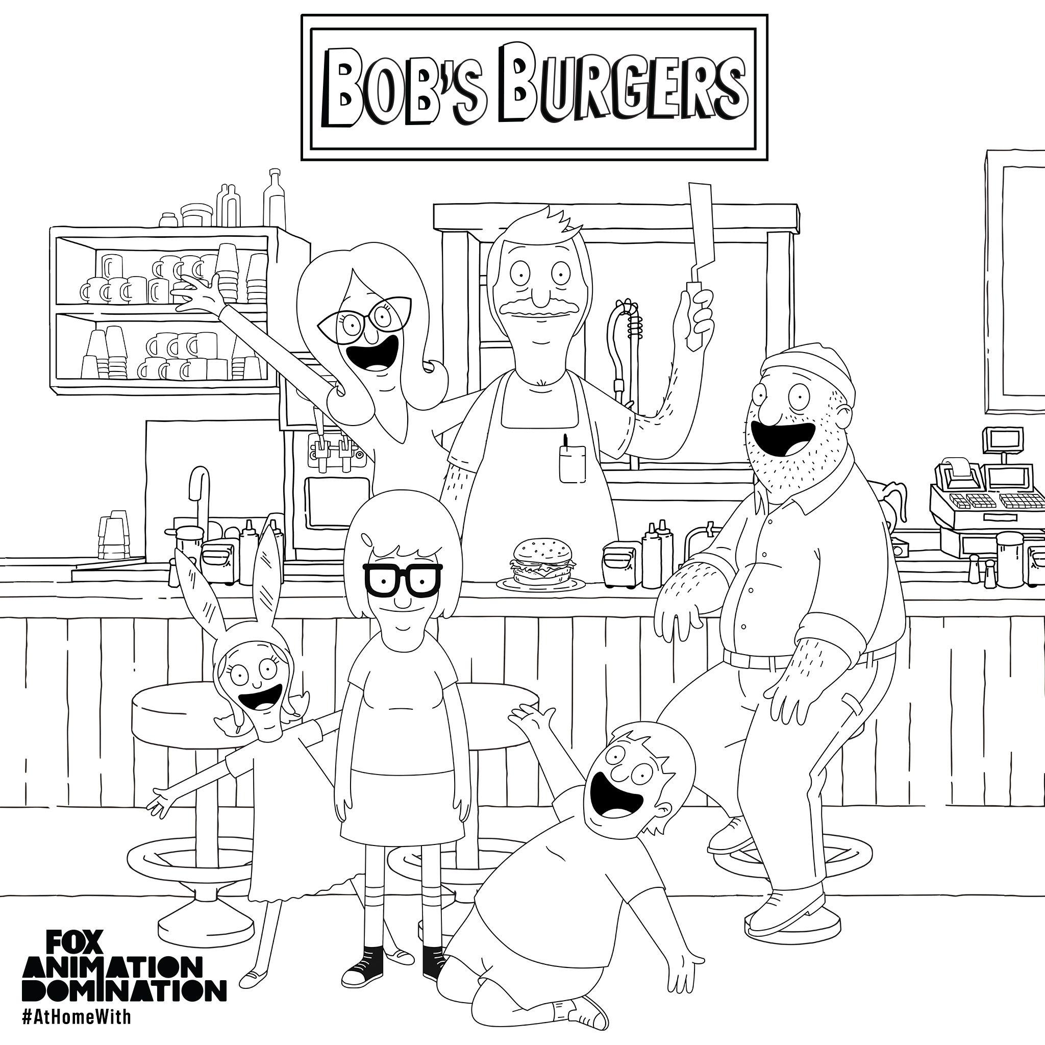 Coloring Book Bob S Burgers Coloring Books Bobs Burgers Bobs Burgers Coloring Pages