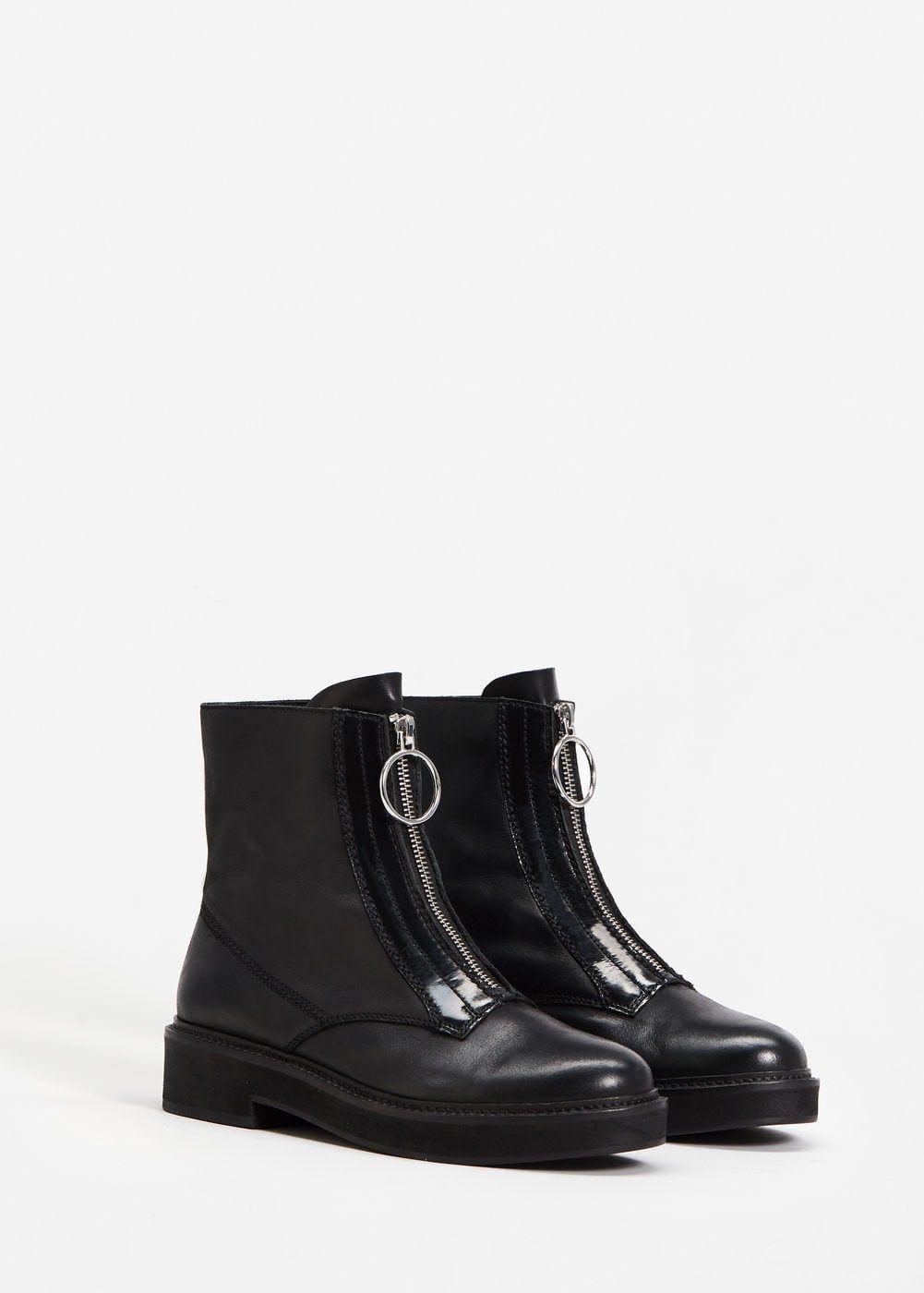 Zipper leather boots - Woman  f0a1d4b8de