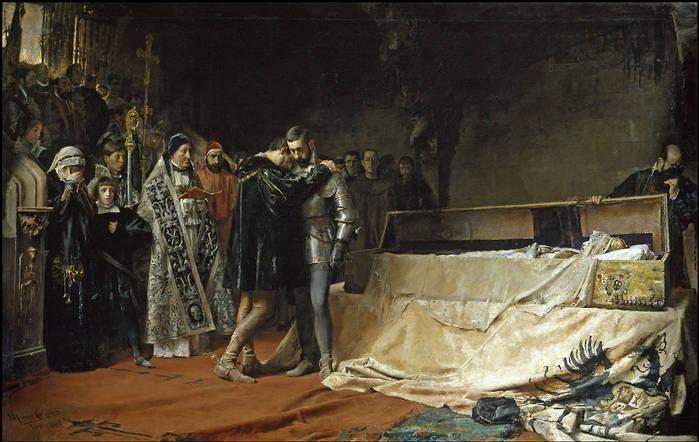 Conversión del duque de Gandía.  José Moreno Carbonero. 1884