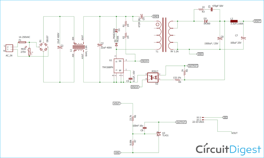 12v 1a Smps Power Supply Circuit Design On Pcb In 2020 Electronics Circuit Power Supply Circuit Circuit Design