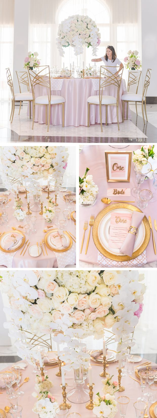 Wedding decorations gold and pink  Weure Head Over Heels for this Dreamy Elegant  Glam Wedding Décor