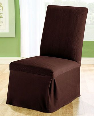 Room Sure Fit Slipcovers Stretch Pique Dining Chair