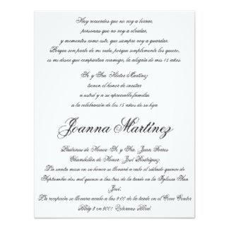 A sample of what text goes on a quinceaera invitation in spanish a sample of what text goes on a quinceaera invitation in spanish awesomexv zazzle stopboris Gallery