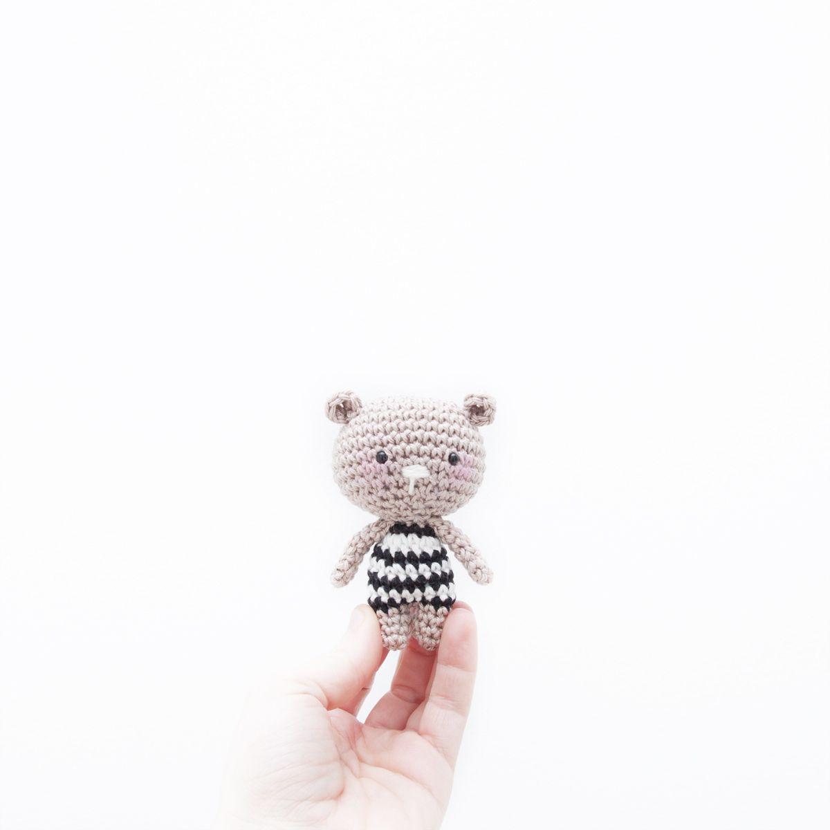 Free crochet pattern. Crochet mini teddy bear. Quick and cute ...