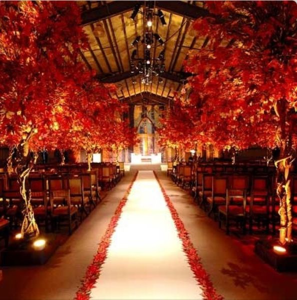 Fall Wedding Indoor