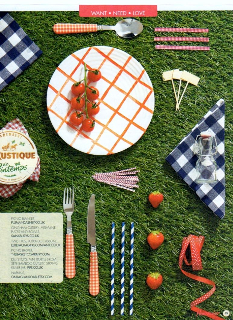 Posh Picnic Homemaker Magazine issue 32, June 2015 #Stripy retro straws, #twist ties, Bamboo delisticks