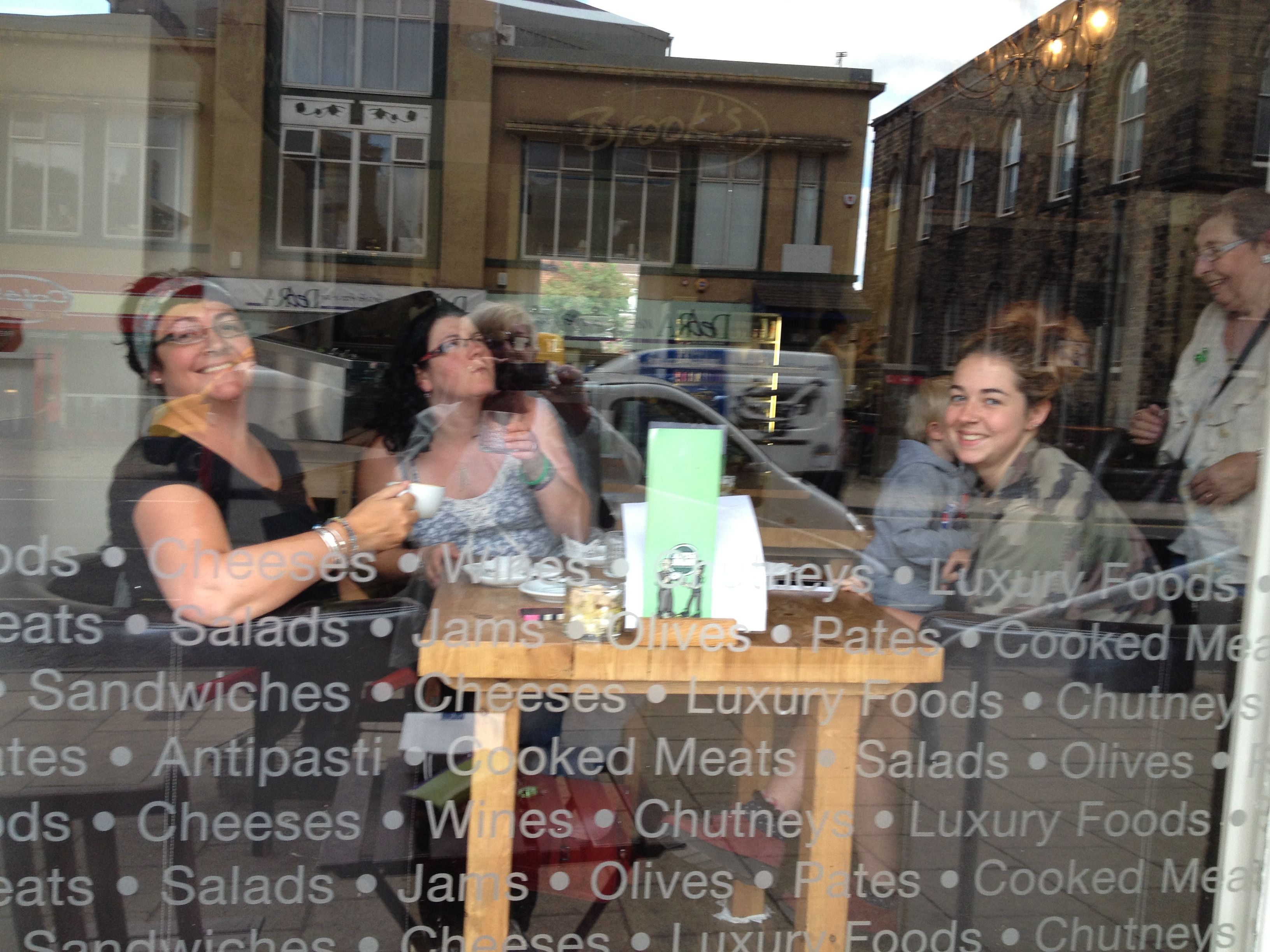 Caught in the act!...The Girls having a cheeky coffee at Brook's....x