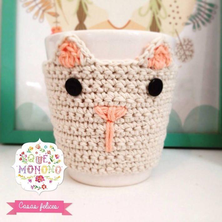 Moderno Crochet Taza Patrón Acogedor Regalo - Manta de Tejer Patrón ...