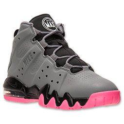 Girls\u0027 Preschool Nike Air Max Barkley Basketball Shoes | Cool  Grey/White/Pink
