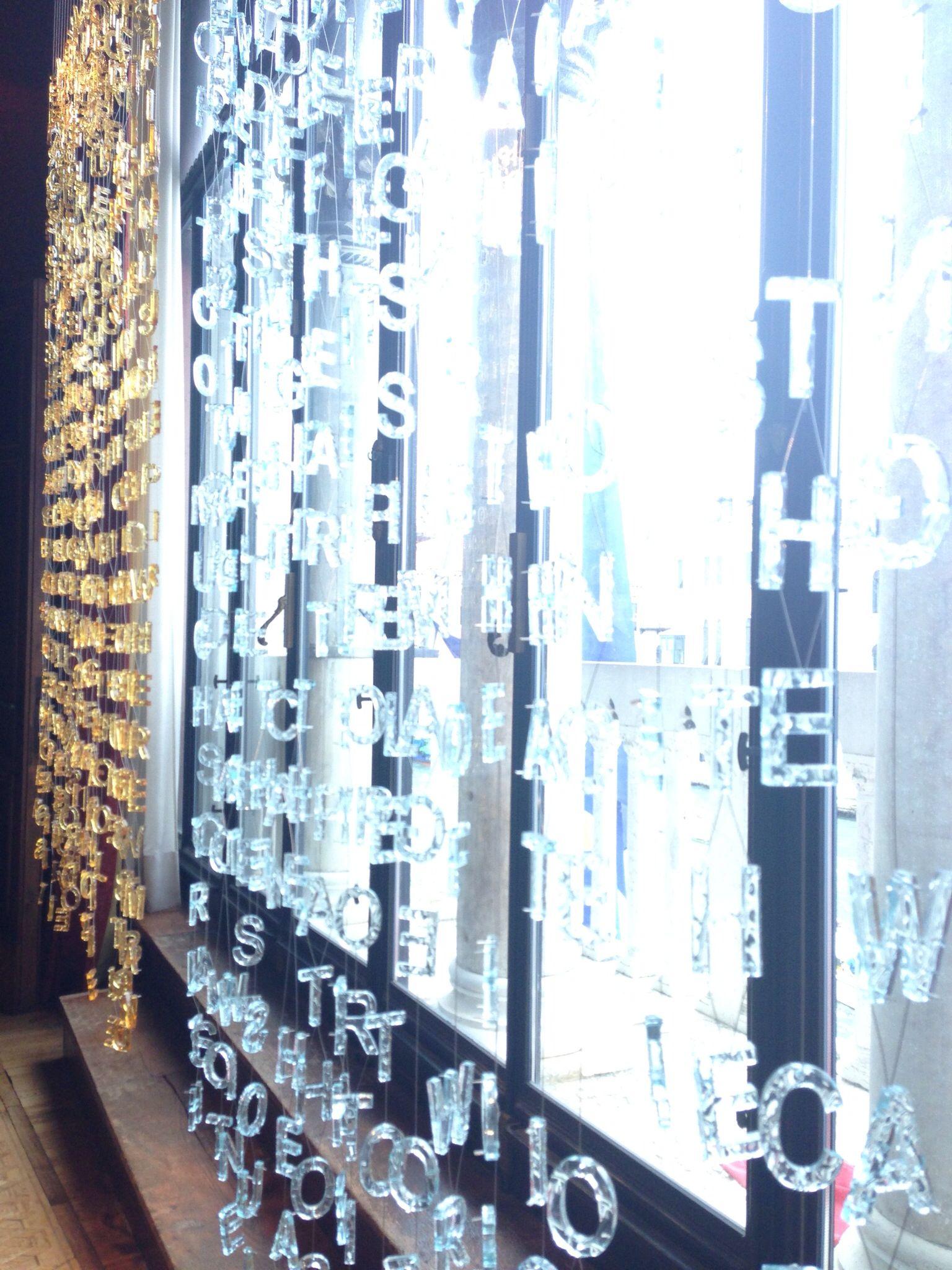Glass letters, venice. Glasstress
