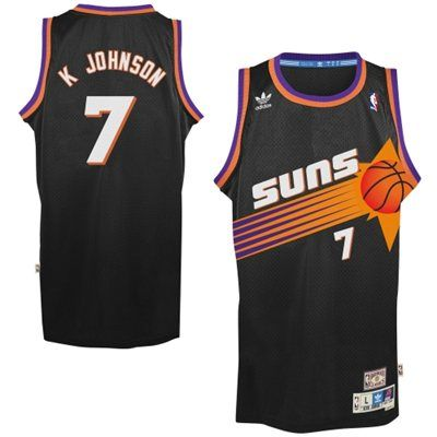 Mens Phoenix Suns Kevin Johnson adidas Black Hardwood Classics ...
