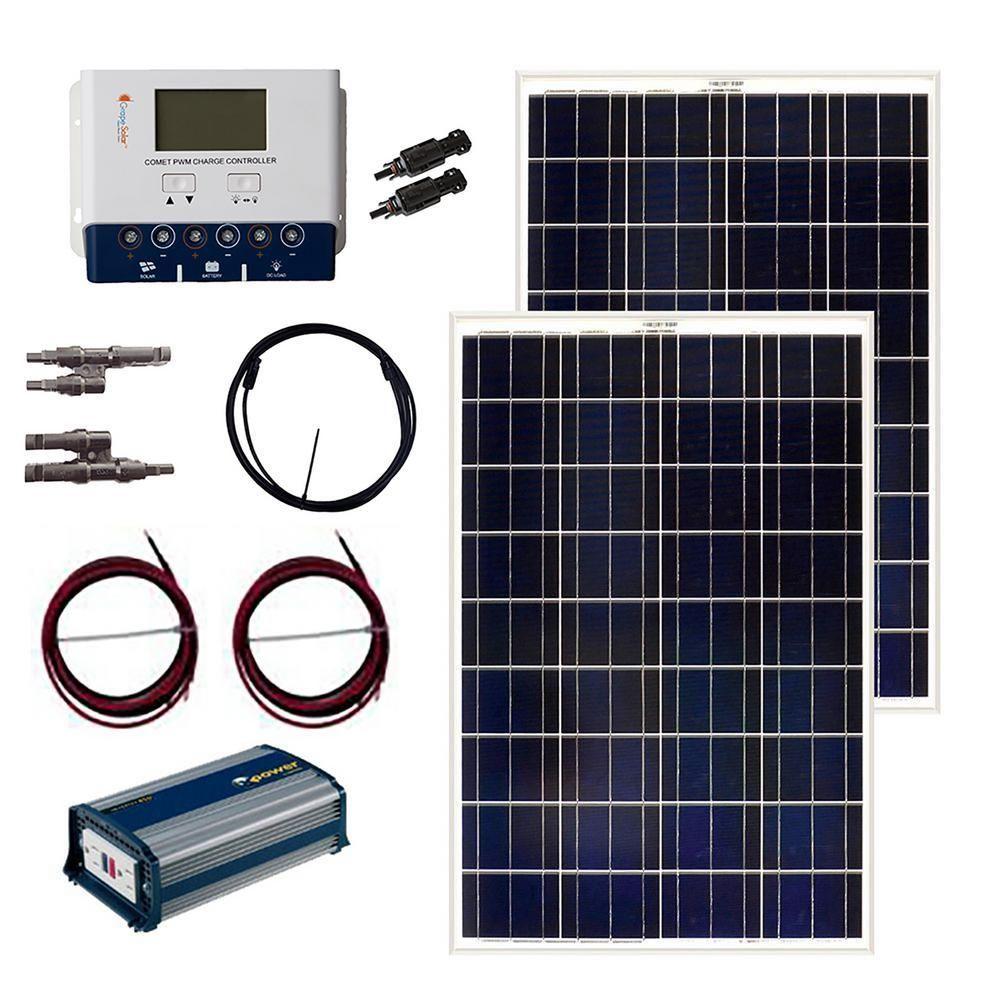 Grape Solar 200 Watt Off Grid Solar Panel Kit Solar