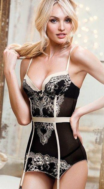 Candice Swanepoel Fekete Fehérnemű e97363cdaf