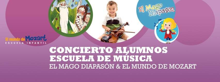 ¡¡Nos vamos de concierto!!! ¿quieres conocer la Escuela de Musica de Mozartkids? te invitamos el próximo Domingo 14 de junio a  a las 11:00h nuestro concierto Mago Diapason I.E.S BEATRIZ GALINDO en calle Goya 10. Entrada gratuita hasta completar aforo