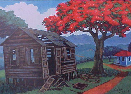 Jibara flamboy n y carreta dibujos para pintar - Vivir en puerto rico ...