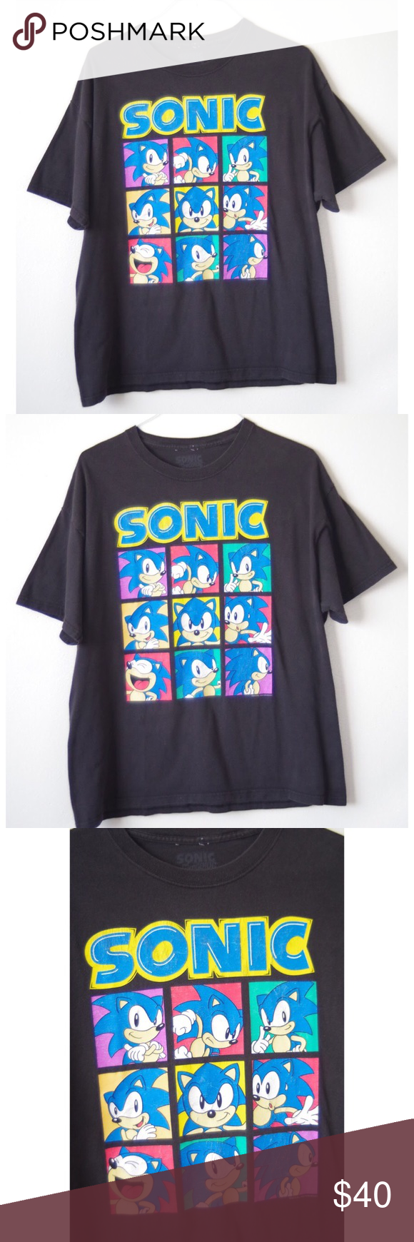 72434e21092b RARE VINTAGE SONIC THE HEDGEHOG CARTOON TSHIRT Size XLarge. Vintage. Sonic  the Hedgehog cartoon