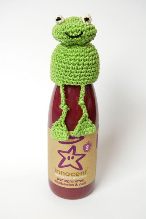 Free Patterns - Crochet Frog Hat for Innocent Smoothie - Big Knit ...