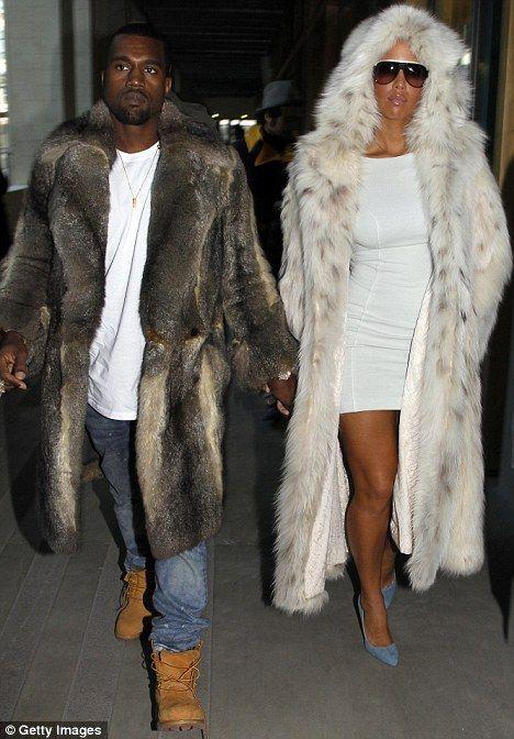 Amber/Kanye Frank Lucas fur
