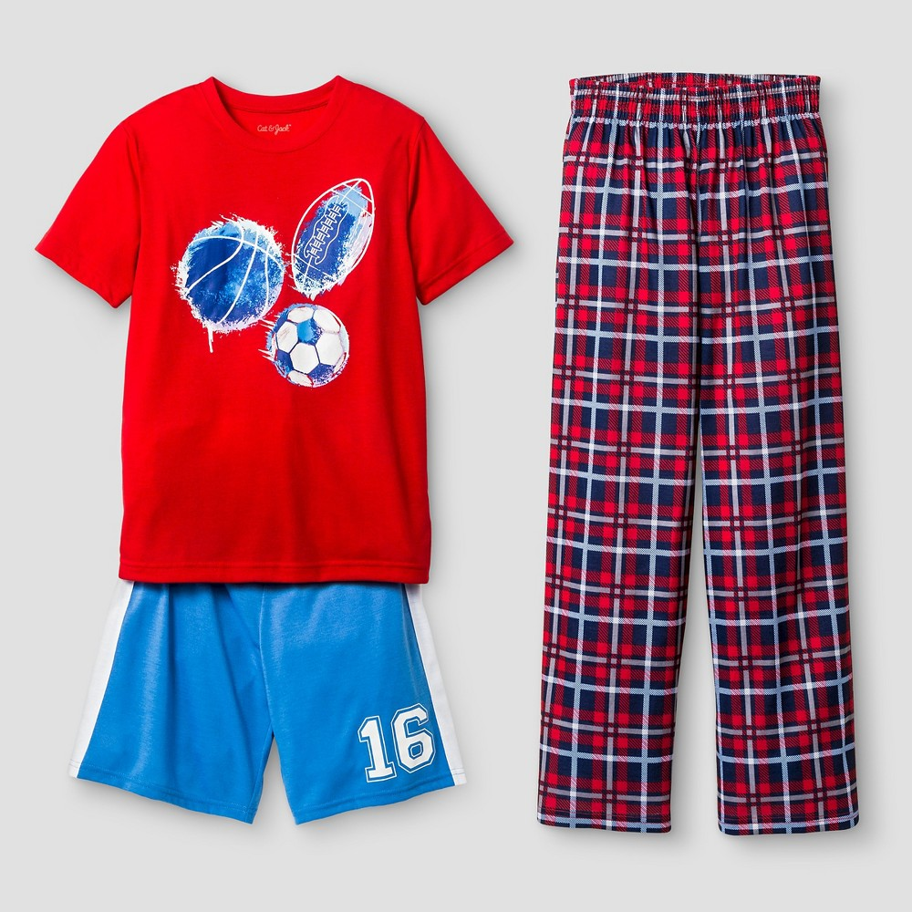 eef24a72eb Boys Pajama Set Cat   Jack - Red S