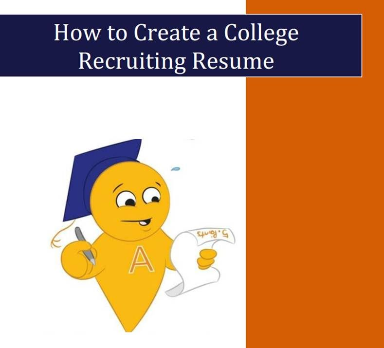Do you know what you should be sending to College Coaches - what information should be on a resume