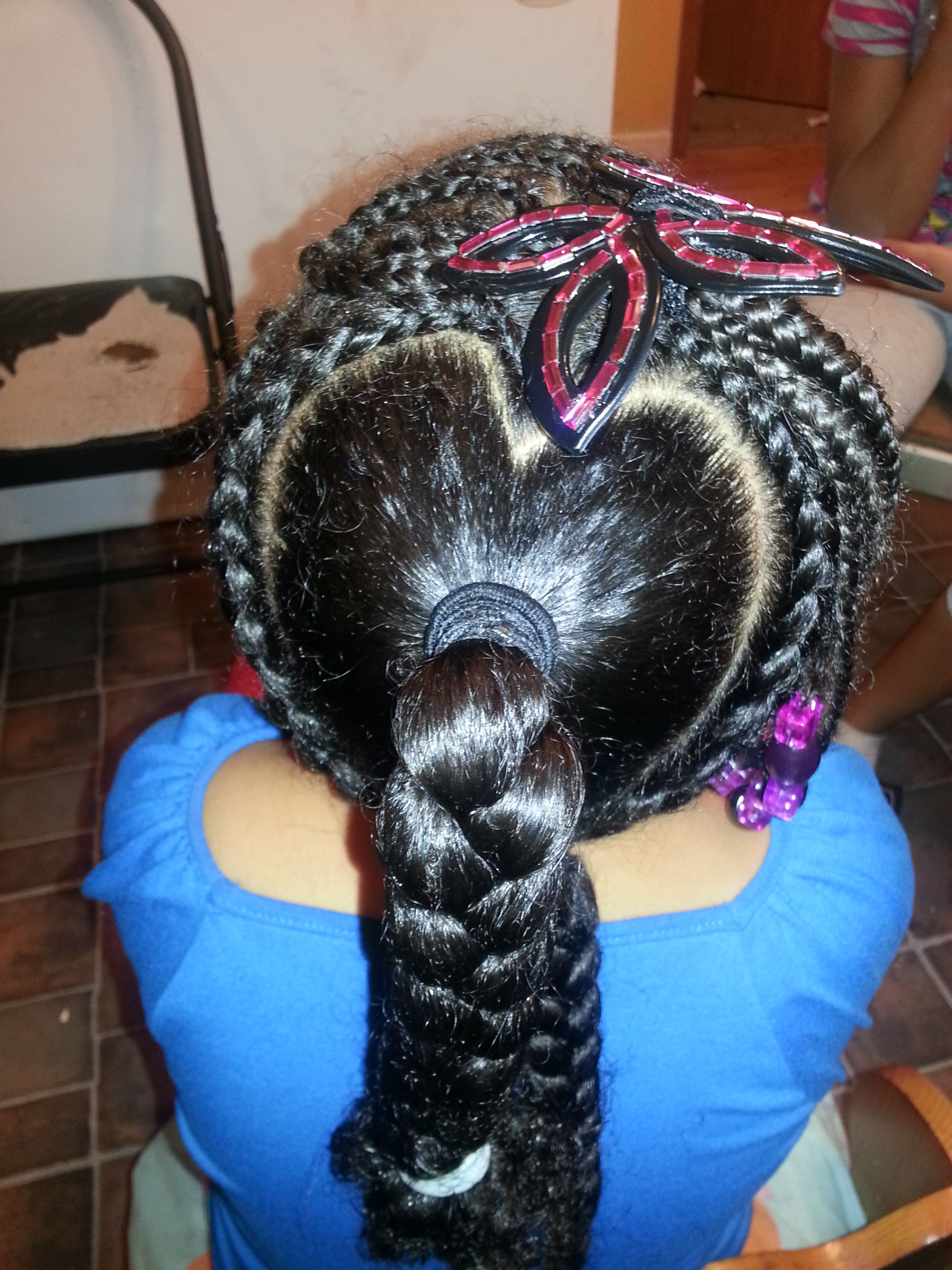 Cornrow braid combination arielle loved it and so will your little