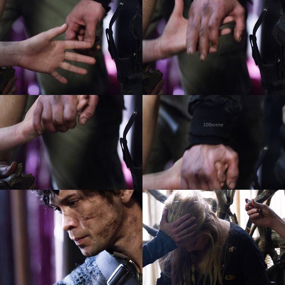"#The100 3x16 ""Perverse Instantiation – Part Two"" - Clarke and Bellamy"