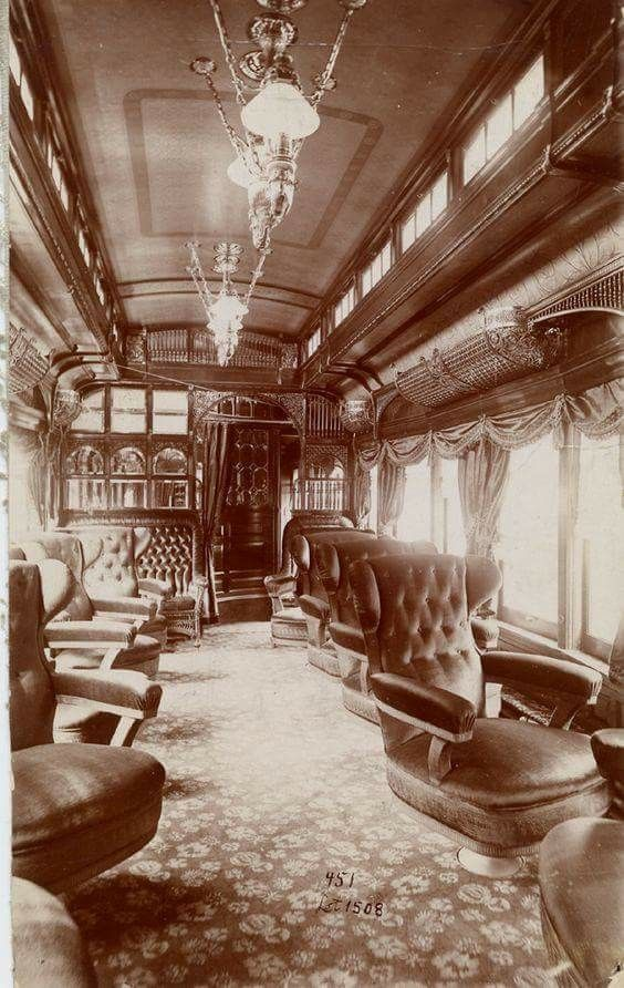 American Parlor Car Train Interior C 1888 Of The George Pullman Palace Car Company An Ornate Way To Travel During Am Old Trains Vintage Train Train Rides